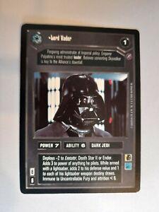 Lord Vader Death Star 2 Star Wars CCG Rare Mint/ Near Mint