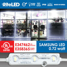 SAMSUNG 5630 Bright White 25ft Window Store Channel Module Kit Set