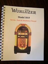 Wurlitzer 1015 Jukebox Service& Parts Manual