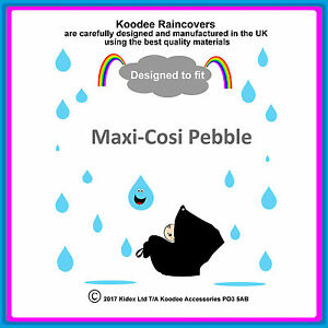 """RAINCOVER by Koodee designed to fit """"Maxi Cosi Pebble"""" Car Seat Made in UK BNIP"""