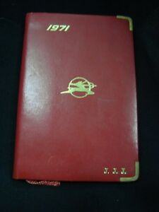 OLD VINTAGE PLASTIC Air India Air Lines co. Pocket Diary from India 1971