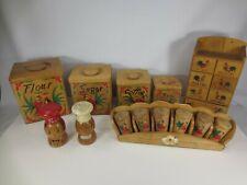 Vintage 50's Rooster Wood Kitchen Set