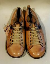 MEN'S CORONEL TAPIOCCA LEATHER LACE-UP SPORT SHOES TRAINERS 43 UK 10 - TAN