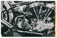 12x18 in Poster Vintage Harley Davidson Motorcycle Engine, Garage Art Man Cave