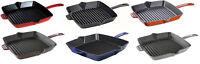 "Staub Cast Iron 12"" Square Grill Pan - 6 COLORS CHOICE NEW"