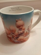 Precious Moments Large Coffee Cup/mug, babies fill life with Precious moments