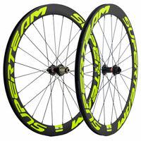 50mm Disc Brake Carbon Wheelset Road Bike Superteam Carbon Wheels QR/THRU AXLE