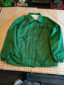 Vintage 90s Hartwell Large Green Nylon Dupont Chattanooga Made in USA