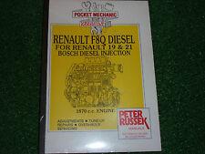 RENAULT 19 & 21 1870cc 1.9L F8Q DIESEL ENGINE WORKSHOP MANUAL 1991> & 1993>>