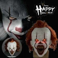 LED Cosplay Kostüm Stephen Kings Es Maske Pennywise Horror Clown Joker Halloween