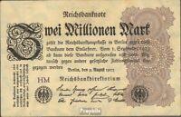 Deutsches Reich RosbgNr: 103a Wz. Hakensterne bankfrisch 1923 2 Millionen Mark