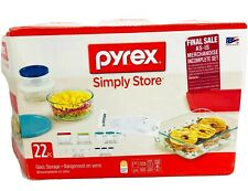 Pyrex 18 Piece Simply Store Fresh Glass Food Storage Container Incomplete Set