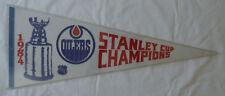 1984 STANLEY CUP CHAMPIONS Edmonton Oilers Gretzky NHL Hockey Pennant SZ 30x12