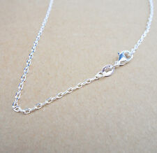 """Wholesale 30"""" 1PCS Fashion Jewelry 925 Silver Plated Singapore Chain Necklace"""