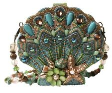 Mary Frances Handbag Seashore Beaded Jewel Crystal Sea Shell Clamshell Shoulder
