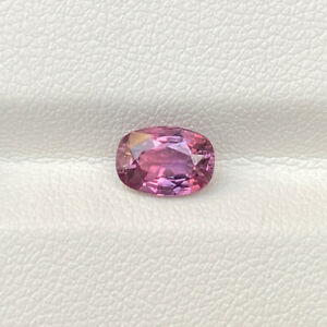 Certified Natural Unheated 1.52 Cts Padparadscha Sapphire Cushion Loose Gemstone