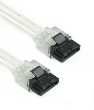 """6"""" Silver SATA III Cable 180 Straight to 180 Straight 6GB/Sec HDD SSD Gaming"""