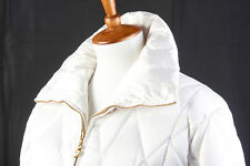 BOGNER Womens Ski Jacket Sz 6 in Goose Down Snow White Quilted Puffer Coat MiUSA