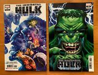 IMMORTAL HULK #25 Alex Ross Main Cover A + Bennet Variant Set Marvel 2019 NM+