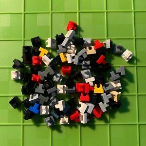 LEGO MULTICOLORED 1X1 UP RIGHT BRICKS QTY 70