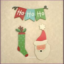CHRISTMAS BANNER METAL MAGNETS SET OF 3 EMBELLISH YOUR STORY FREE U.S. SHIPPING