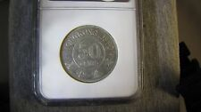 Hong Kong 50 Cents 1890 NGC AU50