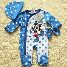 Toddler Baby Romper Jumpsuit Outfits Clothes Long sleeve Beanie Glove Set Mickey