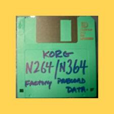 Korg N264 N364 PRELOAD FLOPPY disc Performance Data korg