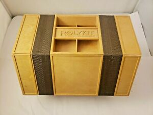 VINTAGE BROWN Rolykit Roll Out Storage Box Craft Jewelry Fishing Plastic *READ*