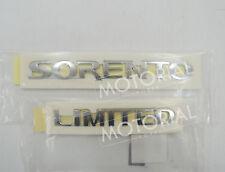 KIA SORENTO 2003-2009 OEM Rear Trunk Sorento + Limited Emblem 2pcs Set