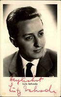 Autogrammkarte Autograph Film Bühne Schauspieler handsigniert LUTZ JAHODA Foto