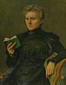 Jo Bauer-Stumpff 1873 - 1964 - Portrait of a Woman with Book