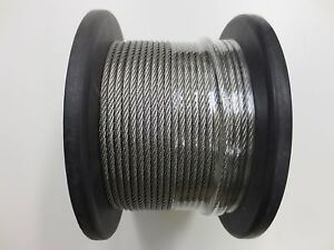 Marine Stainless Steel G316 Wire Cable Balustrade Rope Decking 3.2mm - 7 x 7