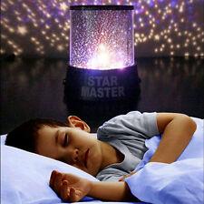 7Patterns Sky Star Master Projector Baby Room Romantic LED Night Light Kid Gift