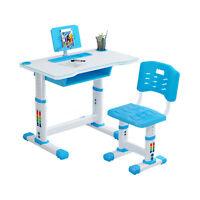 Children Desk Kids Study School Adjustable Height Table Chair Set with Storage