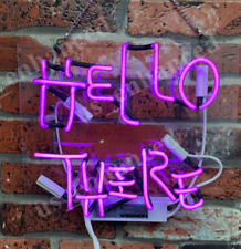 New Hello There Pink Wall Decor Neon Light Sign 14'' ship from USA