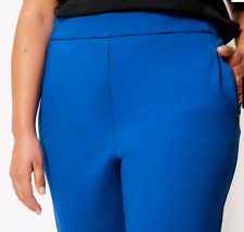 M&S Ladies Trousers Blue Slim Leg Added Stretch Pull On BNWT Marks Curve