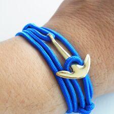 Anchor Bracelet Kings Blue Maritime Surfer Wrap-Around Multilayer