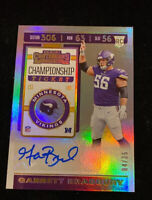 2019 CONTENDERS GARRETT BRADBURY PHOTO VAR. CHAMPIONSHIP TICKET AUTO RC #D 04/25