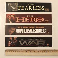 Jet Li Mylar 4 Set - Fearless - Hero - Unleashed & War Movie Mylar Poster