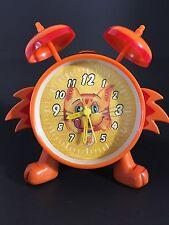 ~ VINTAGE Meow Mix Cat Alarm Clock Musical [Plays Theme Song] Orange Collectors