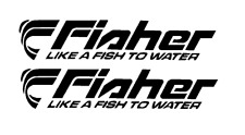 "PAIR OF 5""X28"" FISHER BOAT HULL DECALS. MARINE GRADE. YOUR COLOR CHOICE 37"