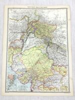 1909 Antique Map of North West India Indian The Pamirs Region George Philip