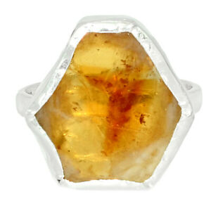 Citrine Stalactite 925 Sterling Silver Ring Jewelry s.6 BR81684 XGB