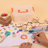 Bois Peinture Graffiti Board Colorant Livre DIY Artisanat Apprentissage Kids Toy