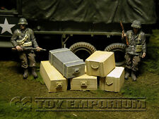 """RETIRED"" Build-a-Rama 1:32 Deluxe Medium Gear & Ammo Crate Set #1 (5 Piece Set)"