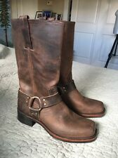 New Frye Harness 12R Vintage Men Sz 8 Square Toe Leather Brown Western Boot NWOB
