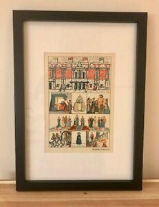 Madame Tussaud's - Original Vintage Print, Framed - Helen Carstairs 1937