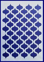 Flexible Stencil *MOROCCAN BACKGROUND DESIGN* Card Making 19.5cm x 14cm