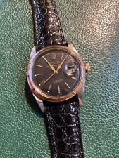 Rolex Cal. 6305 Red DATEJUST Ovettone 36mm Steel And Rose Gold 1953 ALL ORIGINAL
